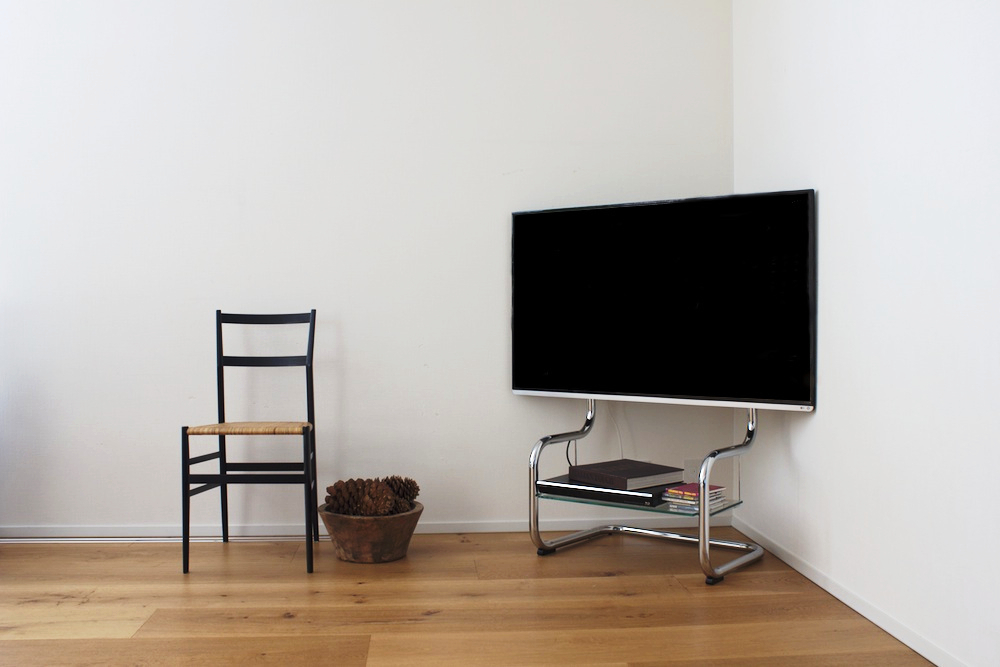 Corner TV stands entertainment center with simple modern design