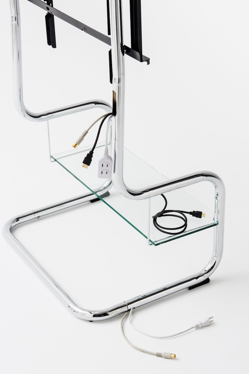 Modern minimalist TV stand floating simple design Cantilever pipe frame.jpeg