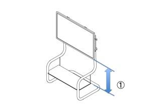 FSM ( フロアスタンド メタル) へのディスプレイ取り付け方法 高さの設定
