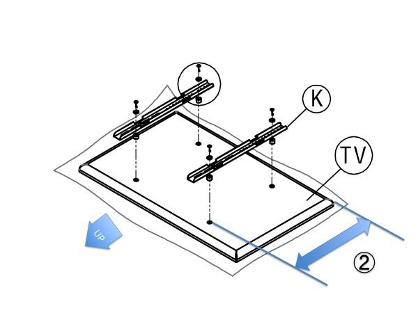 フロアテレビスタンド取り付け解説図2