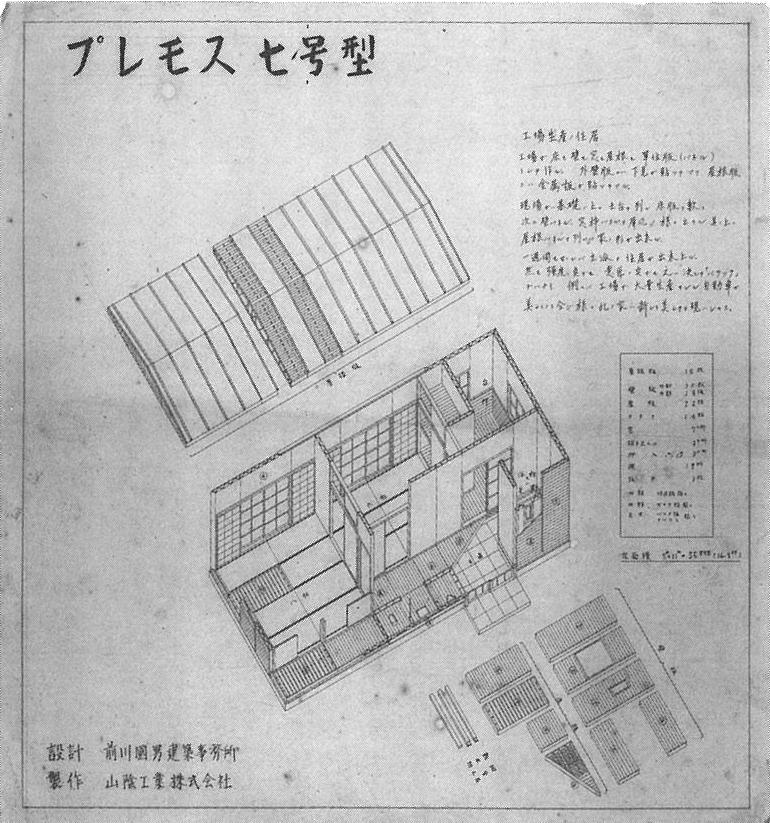住宅と車 プレモス 前川國男