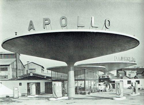 坂倉準三によるアポロのガソリンスタンド