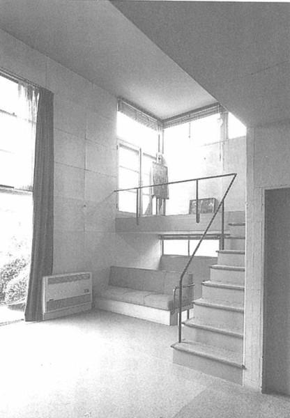 土浦亀城邸の居間と中二階 昭和 モダニズム 住宅
