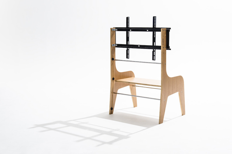 木-木製-壁寄せ-テレビスタンド-背面