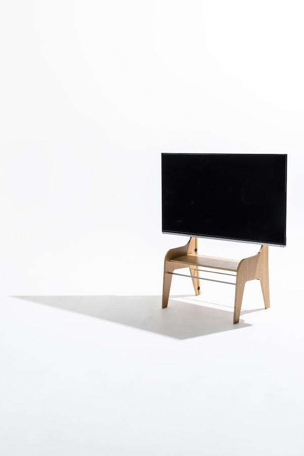 木-木製-壁寄せ-テレビスタンド