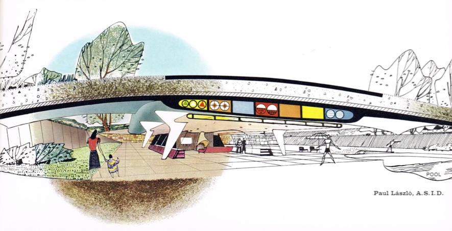 ミッドセンチュリーモダンの建築家、ポールラーズローの核シェルター