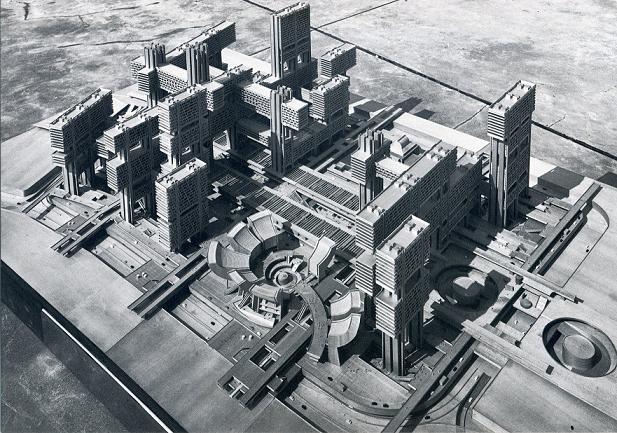 丹下健三 築地再開発計画CG