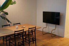 高さのある設置 壁寄せテレビスタンド FSM フロアスタンドメタル