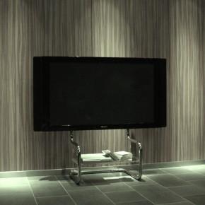 おしゃれ テレビ台 の設置例、軽快でシンプルなインテリアです。