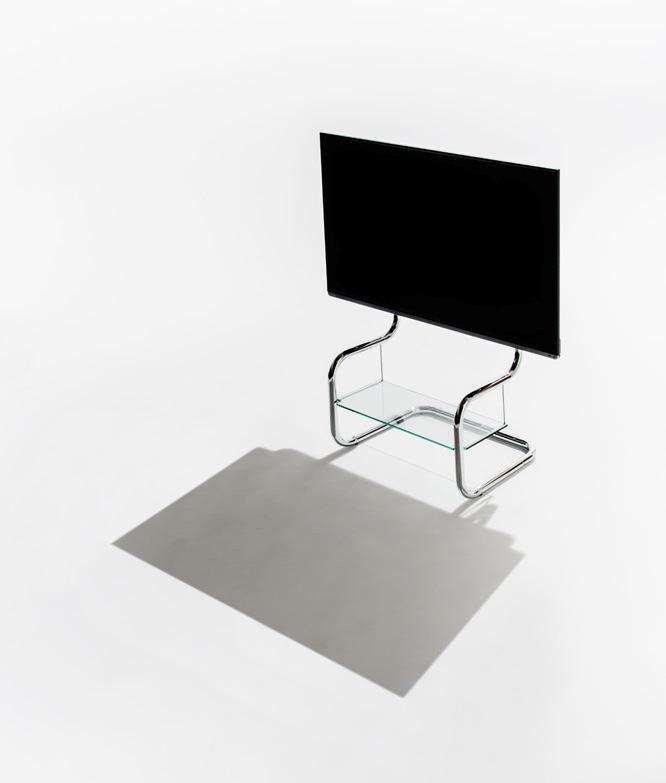 すっきりしたデザインのフロアスタンド型テレビ台FSMの写真